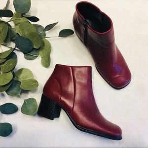 Stunning soft red leather Chelsea boot
